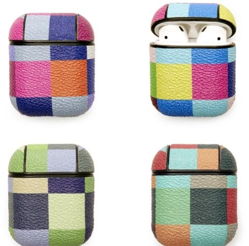 PLAID EARBUD CASE - COLORS MAY VARY - Molly's! A Chic and Unique Boutique