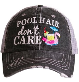 Pool Hair Don't Care Hat - Molly's! A Chic and Unique Boutique