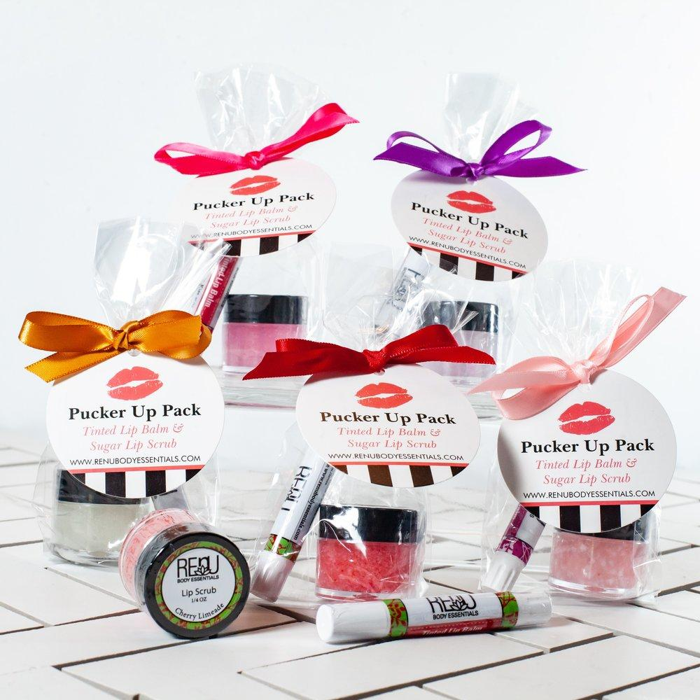 PUCKERUP PACK:  SUGAR SCRUB AND LIP BALM SET - Molly's! A Chic and Unique Boutique