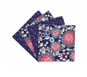 RED WHITE & BLOSSOMS NAPKIN SET OF 4 - Molly's! A Chic and Unique Boutique