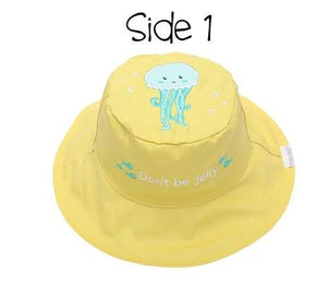 Reversible Baby & Kids Sun Hat- Fish/Jellyfish UPF 50 - Molly's! A Chic and Unique Boutique
