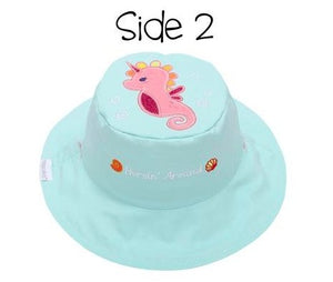 Reversible Baby & Kids Sun Hat- Mermaid/Seahorse - Molly's! A Chic and Unique Boutique