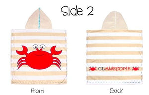 Reversible Kids & Baby Cover Up- Shark/Crab UPF 50 - Molly's! A Chic and Unique Boutique