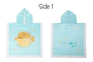 REVERSIBLE KIDS COVER UP - FISH | JELLYFISH - Molly's! A Chic and Unique Boutique