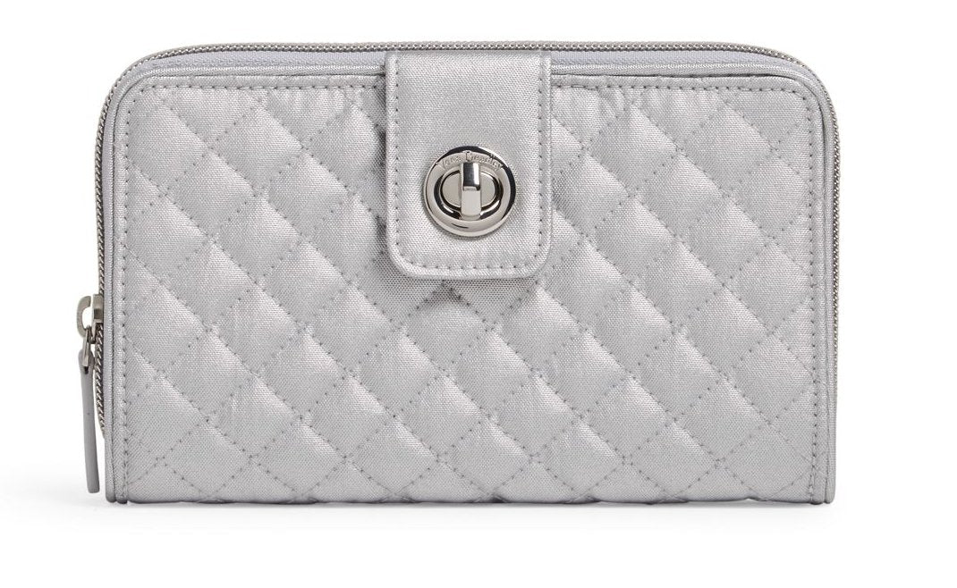 RFID Turnlock Wallet-Silver Pearl - Molly's! A Chic and Unique Boutique