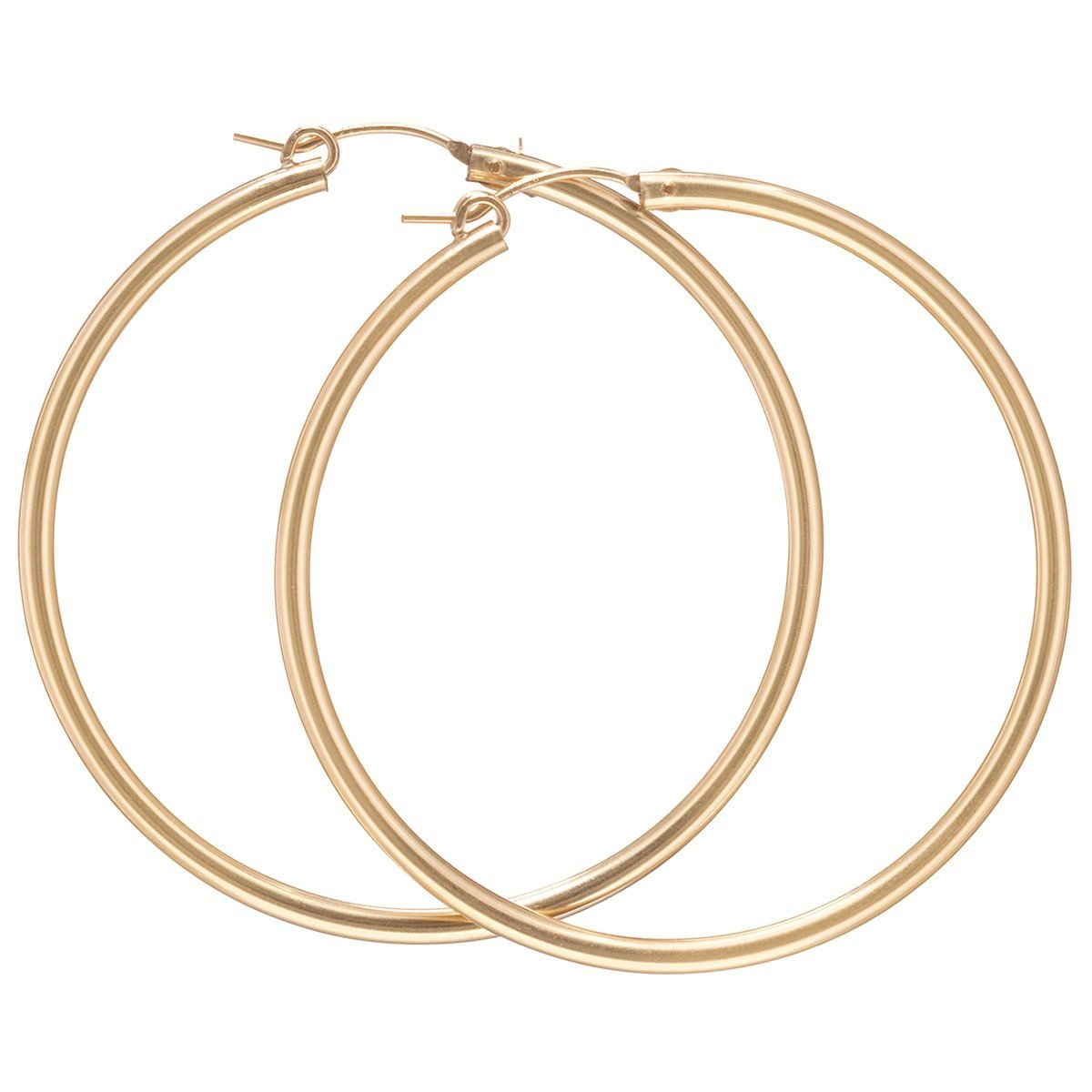 "ROUND GOLD 2"" HOOP- SMOOTH - Molly's! A Chic and Unique Boutique"