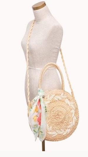 ROUND STRAW TOTE: RIVER HOUSE - Molly's! A Chic and Unique Boutique