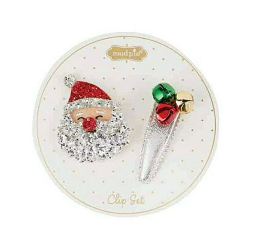 SANTA AND JINGLE BELL HAIRCLIPS - Molly's! A Chic and Unique Boutique