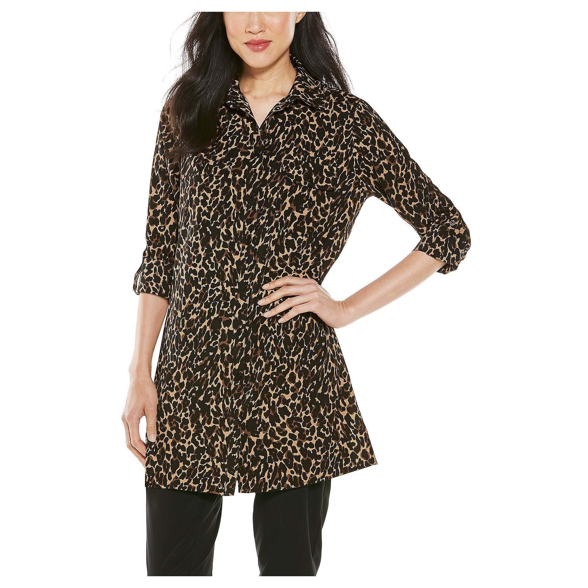 SANTORINI TUNIC LEOPARD (SIZE XS only and 2XL) - Molly's! A Chic and Unique Boutique