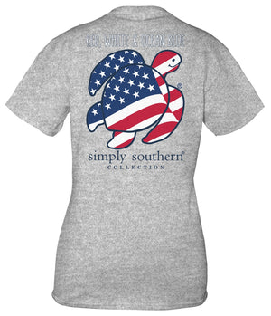 SAVE THE TURTLES - FLAG T-SHIRT - Molly's! A Chic and Unique Boutique