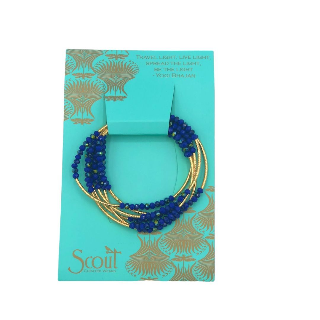 SCOUT WRAP BRACELET COBALT/GOLD - Molly's! A Chic and Unique Boutique