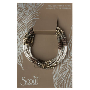 SCOUT WRAP BRACELET - GRAPHITE SILVER - Molly's! A Chic and Unique Boutique