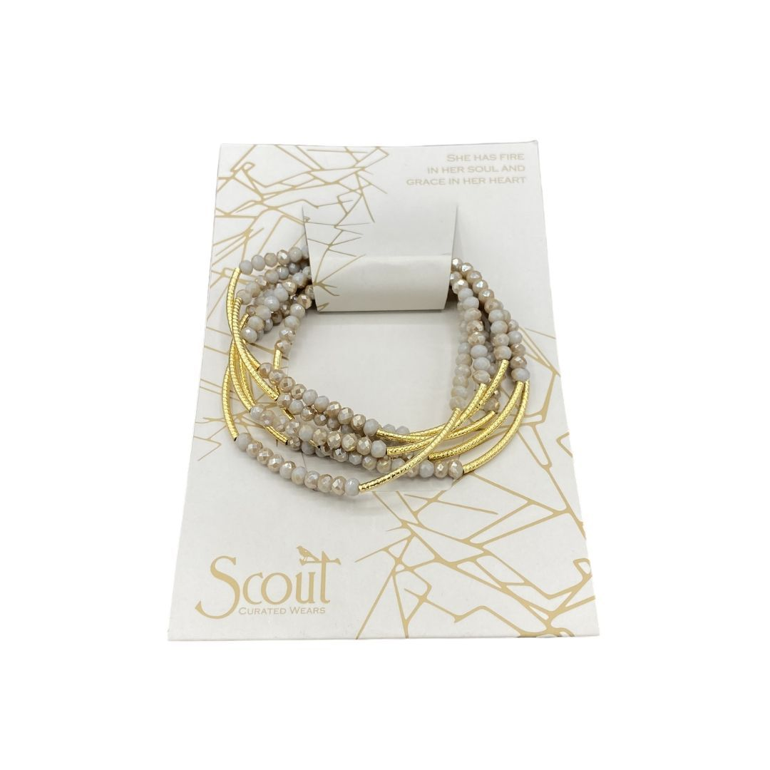 SCOUT WRAP BRACELET - GREY/GOLD - Molly's! A Chic and Unique Boutique