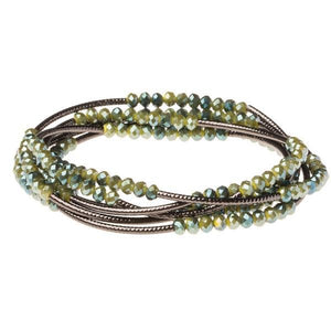 SCOUT WRAP BRACELET - OLIVE/HEMATITE - Molly's! A Chic and Unique Boutique