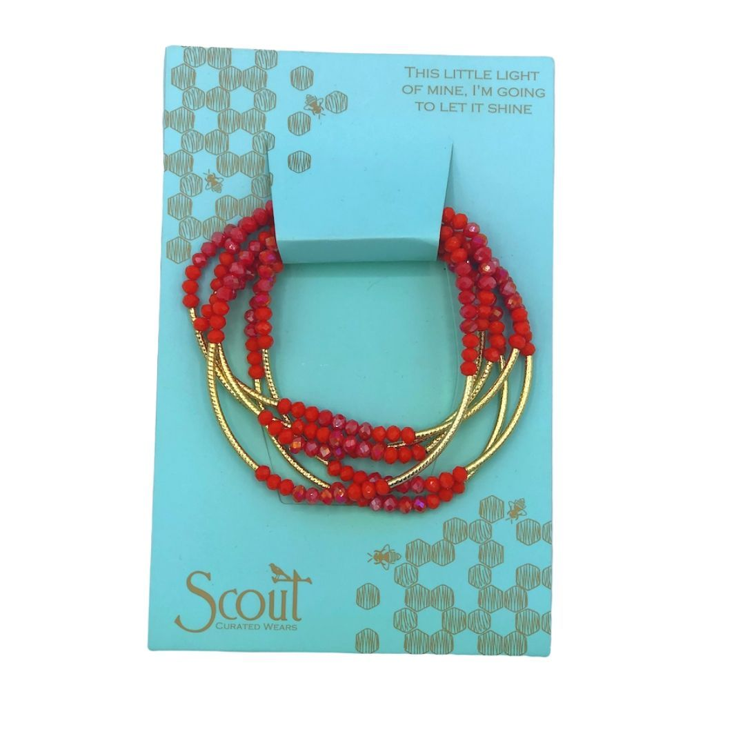 SCOUT WRAP BRACELET - RED/GOLD - Molly's! A Chic and Unique Boutique