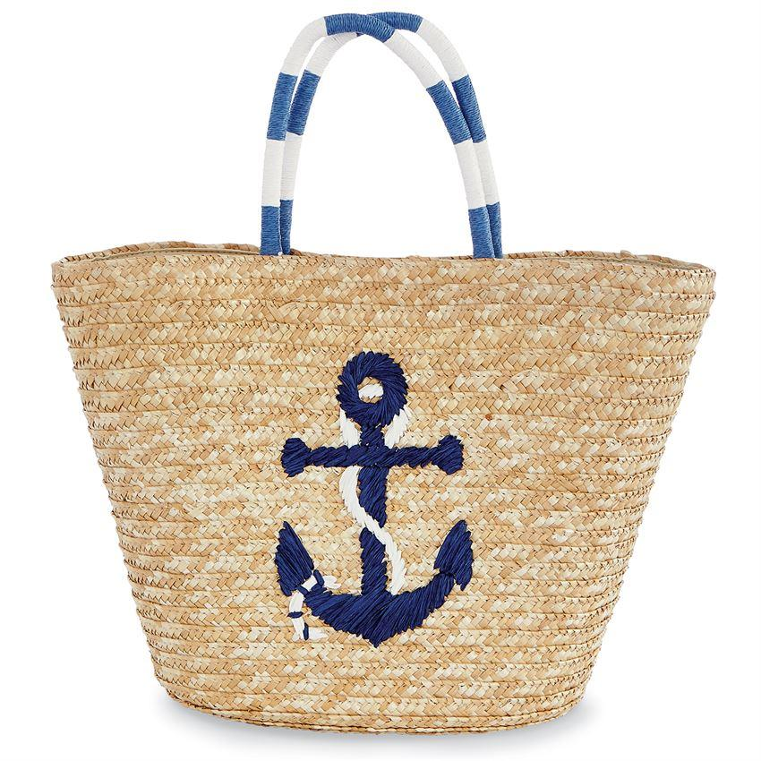 SEA STRAW TOTE NAVY - Molly's! A Chic and Unique Boutique
