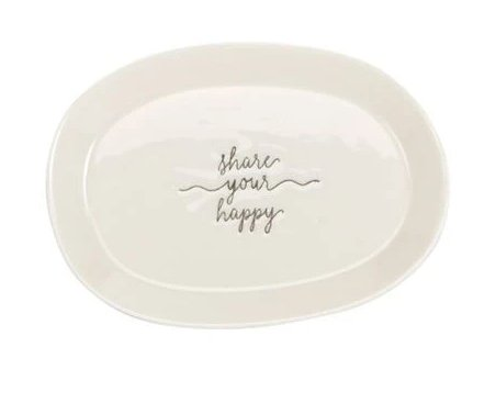 SHARE YOUR HAPPY MINI TRAY- 40700079S (add dimensions from box if it says) - Molly's! A Chic and Unique Boutique
