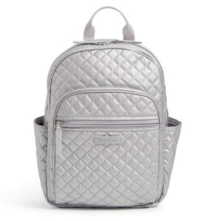 SMALL BACKPACK IN SILVER PEARL - Molly's! A Chic and Unique Boutique
