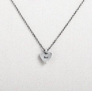 SMALL STORY HEART PENDANT - BEST MOM - 1004130126 - Molly's! A Chic and Unique Boutique