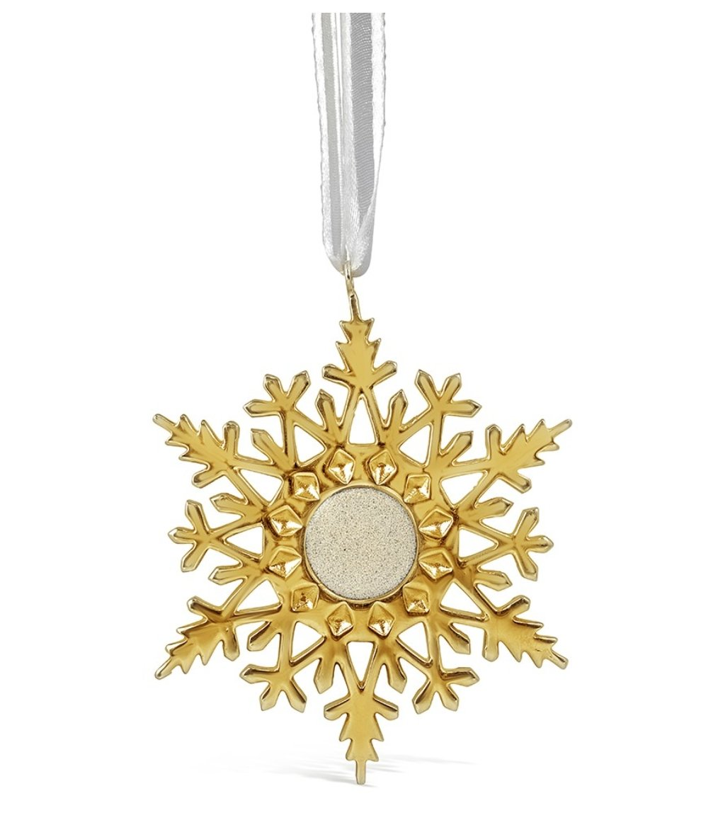 SNOW2 GOLD ORNAMENT - Molly's! A Chic and Unique Boutique