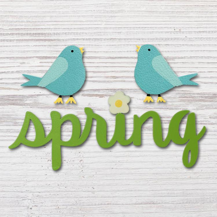 """SPRING"" W/ BIRD MAGNET - Molly's! A Chic and Unique Boutique"