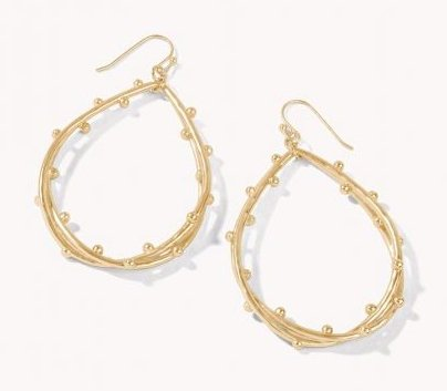 SPRITZ TEARDROP EARRINGS: GOLD - Molly's! A Chic and Unique Boutique