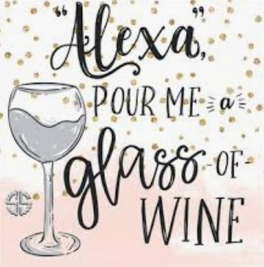 SQUARE COASTER:  Alexa, pour me a glass of  WINE - Molly's! A Chic and Unique Boutique