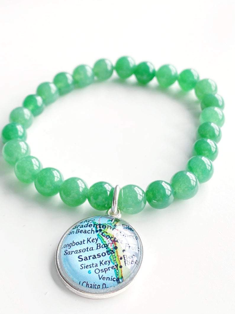 SRQ Bracelet Green - Molly's! A Chic and Unique Boutique