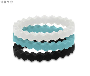 STACKABLE SILICONE RINGS (size 6 only) - Molly's! A Chic and Unique Boutique