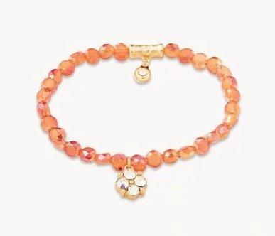 STRETCH BRACELET 6MM - CORAL/CLOVER - 949793 - Molly's! A Chic and Unique Boutique
