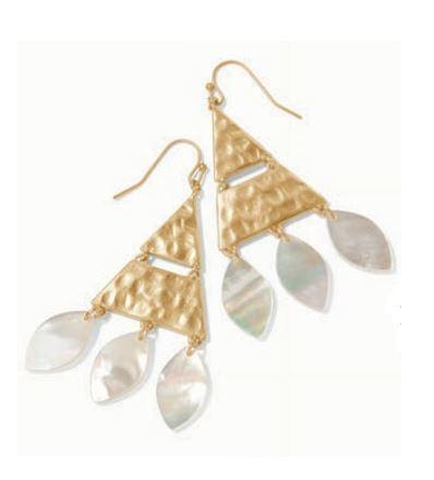 SWEETSPIRE TRIANGLE EARRINGS MOTHER-OF-PEARL - Molly's! A Chic and Unique Boutique