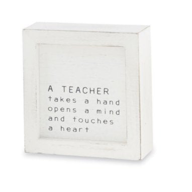 TEACHER SMALL FAMILY PLAQUE - Molly's! A Chic and Unique Boutique
