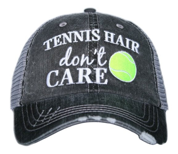 TENNIS HAIR DONT CARE TRUCKER HAT - KDC-TC-182 - Molly's! A Chic and Unique Boutique