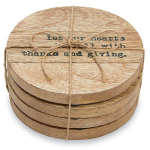 THANKFUL WOOD COASTER - Molly's! A Chic and Unique Boutique