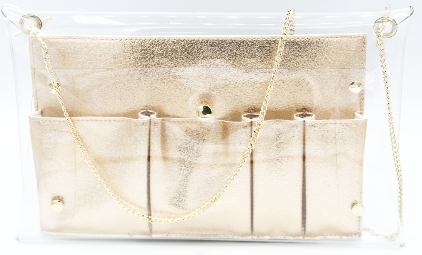 TOUCHDOWN CLEAR CROSSBODY WITH REMOVABLE INNER COMPARTMENT INCLUDED P32A-P12100-RG - Molly's! A Chic and Unique Boutique