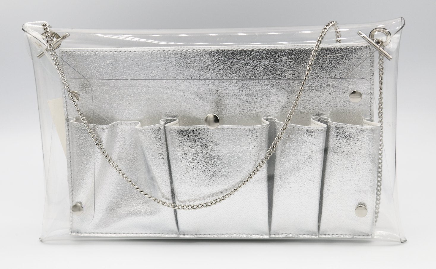 TOUCHDOWN CLEAR CROSSBODY WITH REMOVABLE INNER COMPARTMENT INCLUDED P41B-P12100-S - Molly's! A Chic and Unique Boutique