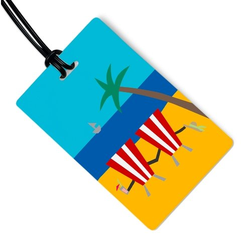 TROPICAL GETAWAY LUGGAGE TAG - Molly's! A Chic and Unique Boutique