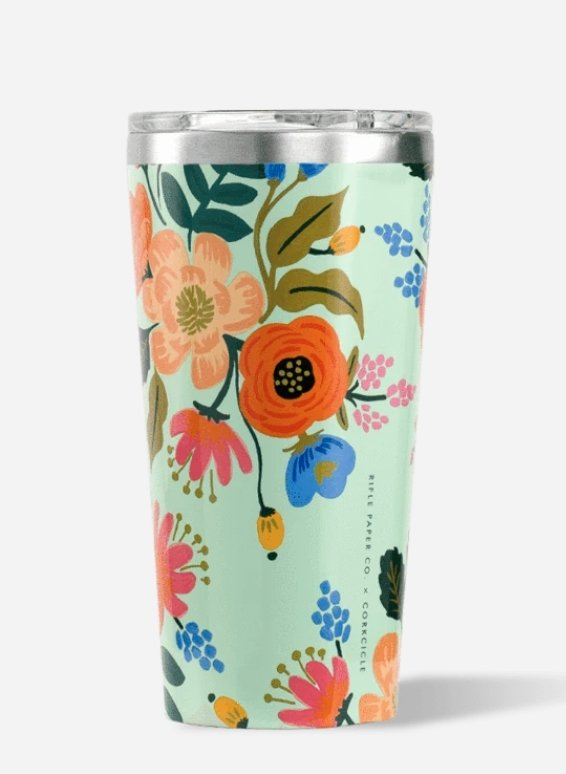 TUMBLER LIVELY FLORAL MINT - Molly's! A Chic and Unique Boutique