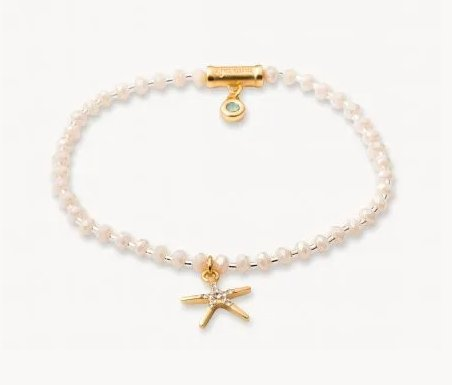 TWINKLE STARFISH BRACELET - CREAM  519762 - Molly's! A Chic and Unique Boutique