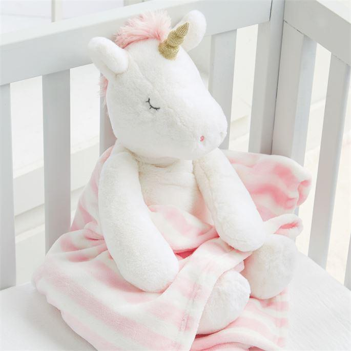 Unicorn Plush With Blanket - Molly's! A Chic and Unique Boutique