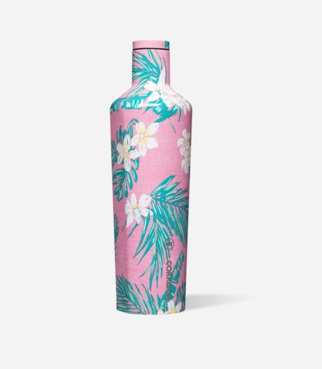 VINEYARD VINES 25OZ CANTEEN- VINES PINK TROPICAL FLOWERS - Molly's! A Chic and Unique Boutique