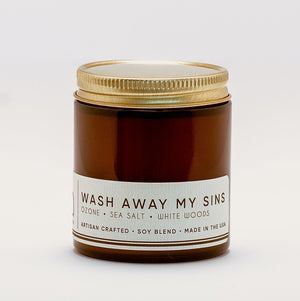 WASH AWAY MY SINS Classic Candle 50hour Burn - Molly's! A Chic and Unique Boutique
