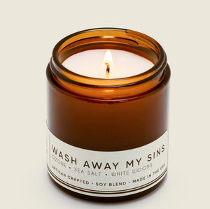 WASH AWAY MY SINS Petite Candle 20hr Burn - Molly's! A Chic and Unique Boutique