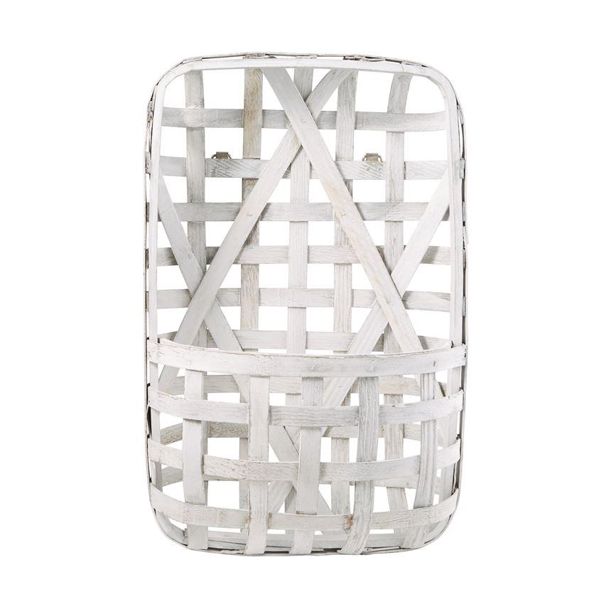 White Tobacco Basket Wall Pocket - Molly's! A Chic and Unique Boutique