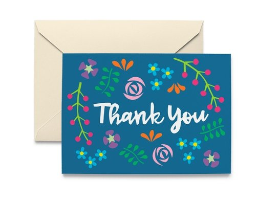 WILDFLOWER THANK YOU NOTE CARD - Molly's! A Chic and Unique Boutique