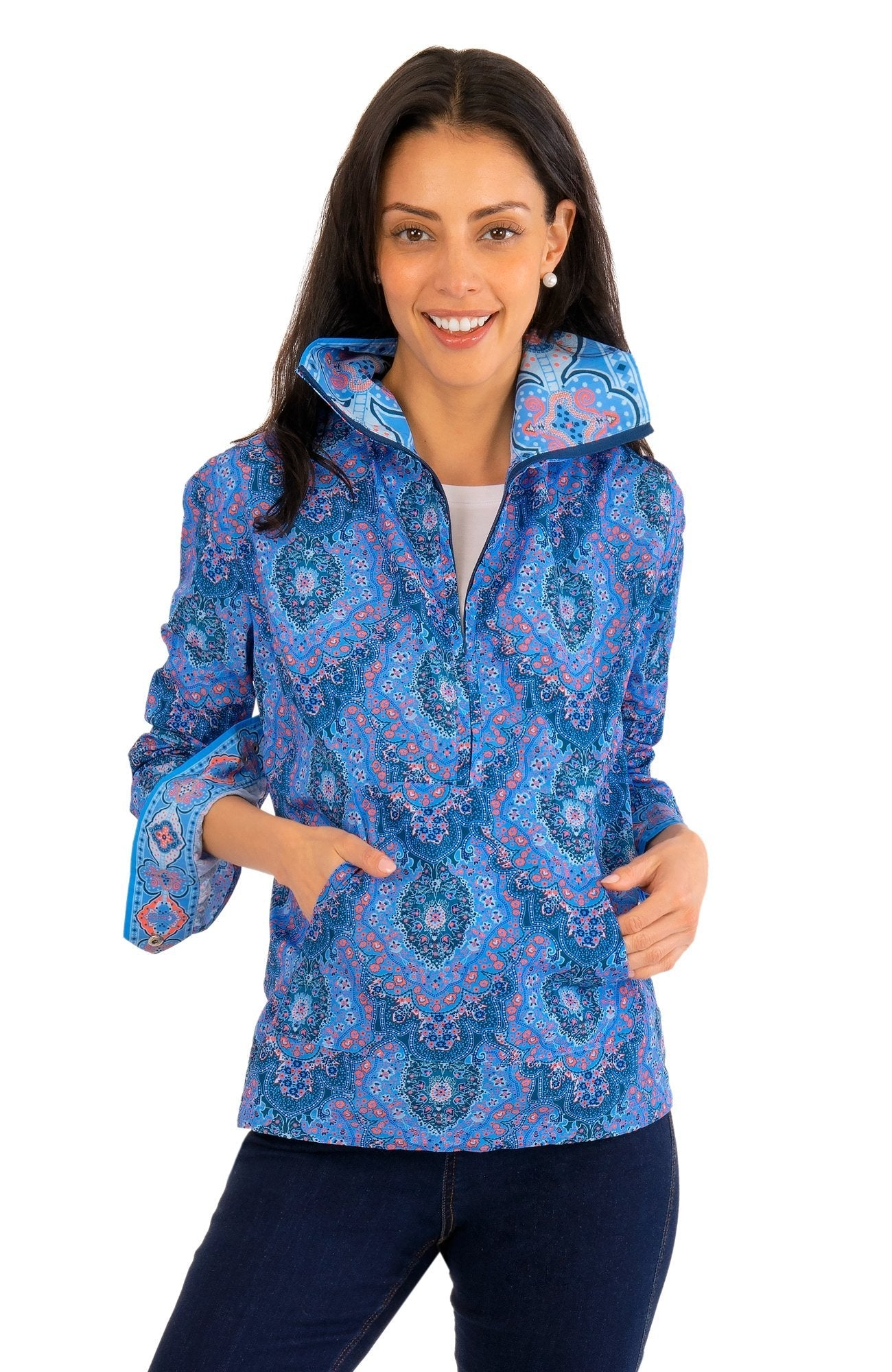 WINDBREAKER - PLEASANTLY PAISLEY - JKWJPP - Molly's! A Chic and Unique Boutique