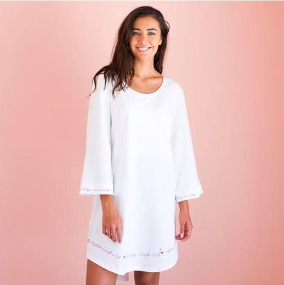 WINE BELL 3/4 SLEEVE NIGHTGOWN - Molly's! A Chic and Unique Boutique