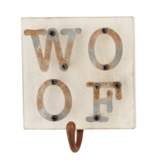 WOOF IRON DOG LEASH HANGER - Molly's! A Chic and Unique Boutique