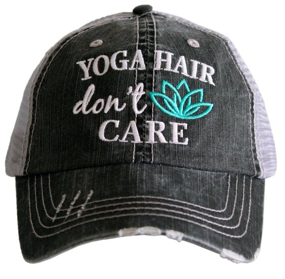 YOGA HAIR TRUCKER HAT - TC-377-GRY-MNT - Molly's! A Chic and Unique Boutique