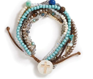 YOUR JOURNEY PRAYER BRACELET - (TURQUOISE) 1004000123 - Molly's! A Chic and Unique Boutique